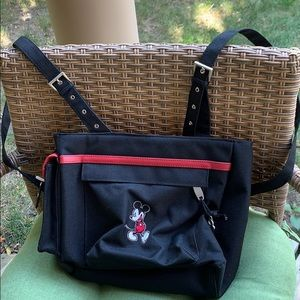 Disney black canvas Mickey backpack purse